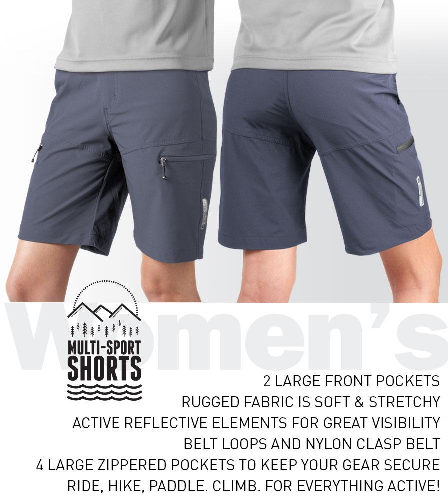 Women's Multi-Sport Shorts Informational Panel