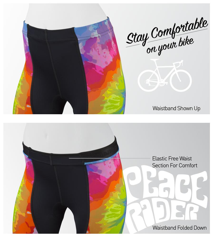 Women's Peace Rider Bike Short Waist Detail
