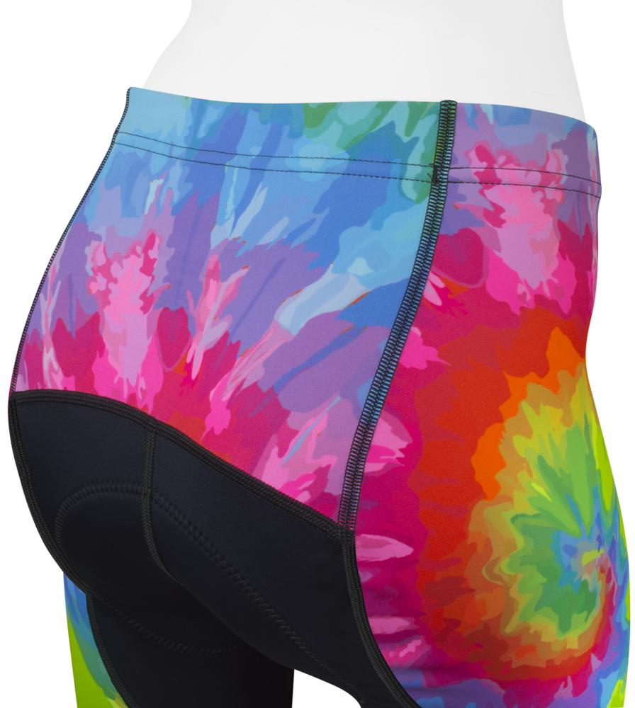Women's Peace Rider Bike Shorts Back Yoke Tie-Dye Detail