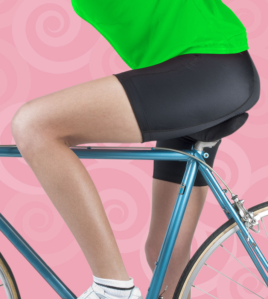 Women's Pro Cycling Shorts on the Bike