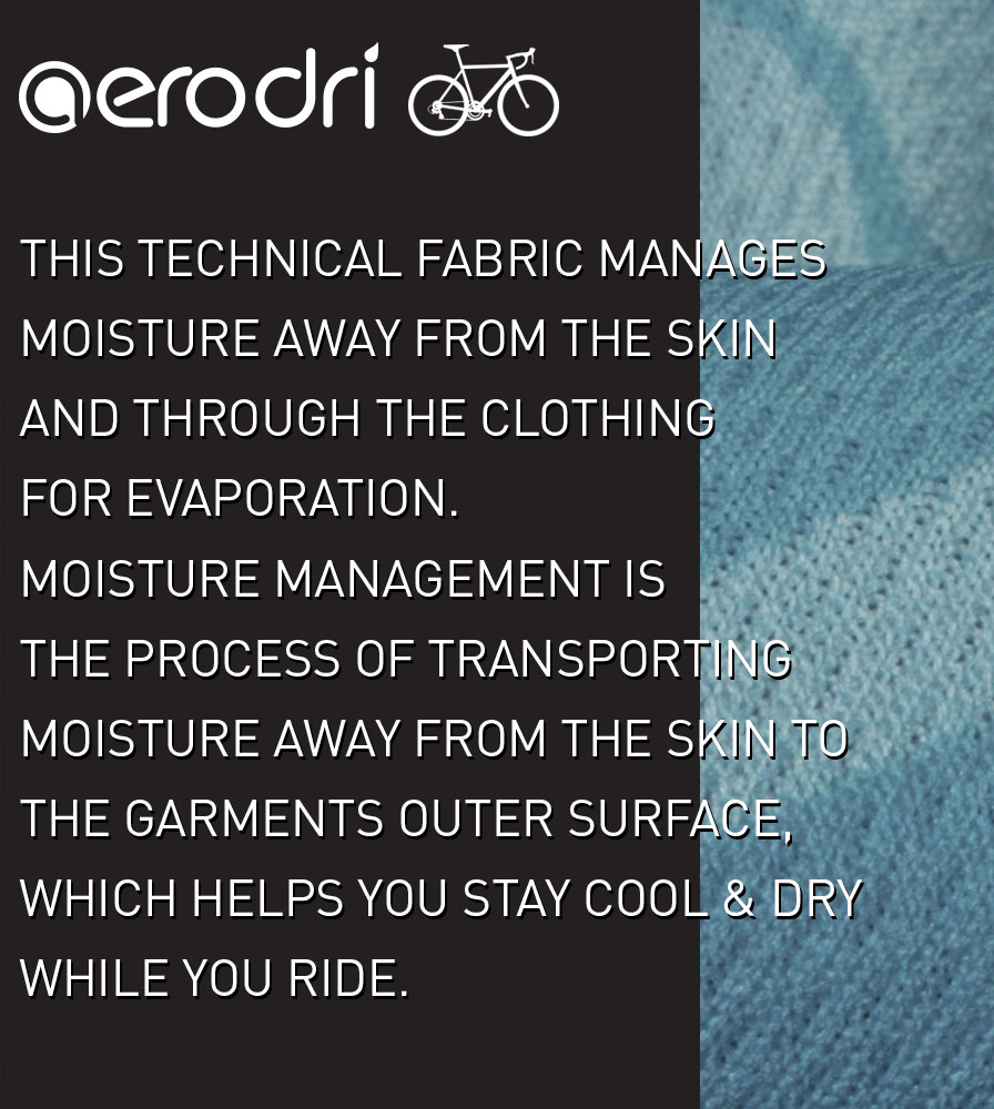 AeroDri Fabric Information on the Women's Elite Cycling Jersey