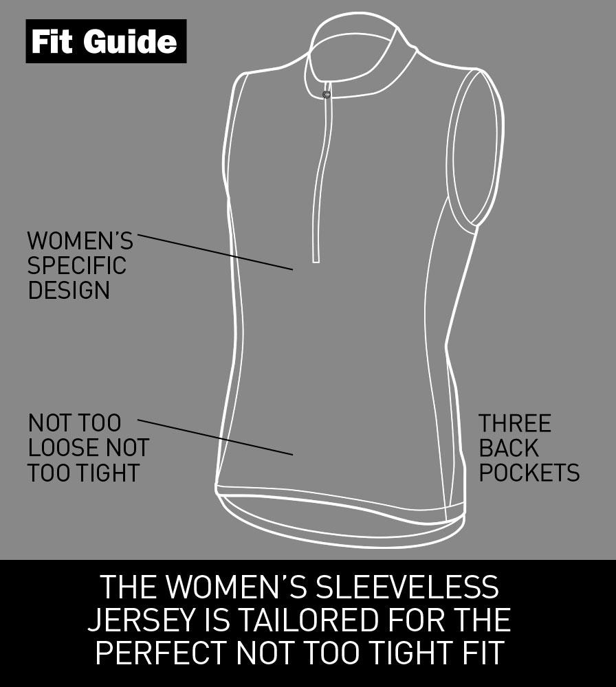 Women's Sleeveless Jerseys Fit Guide
