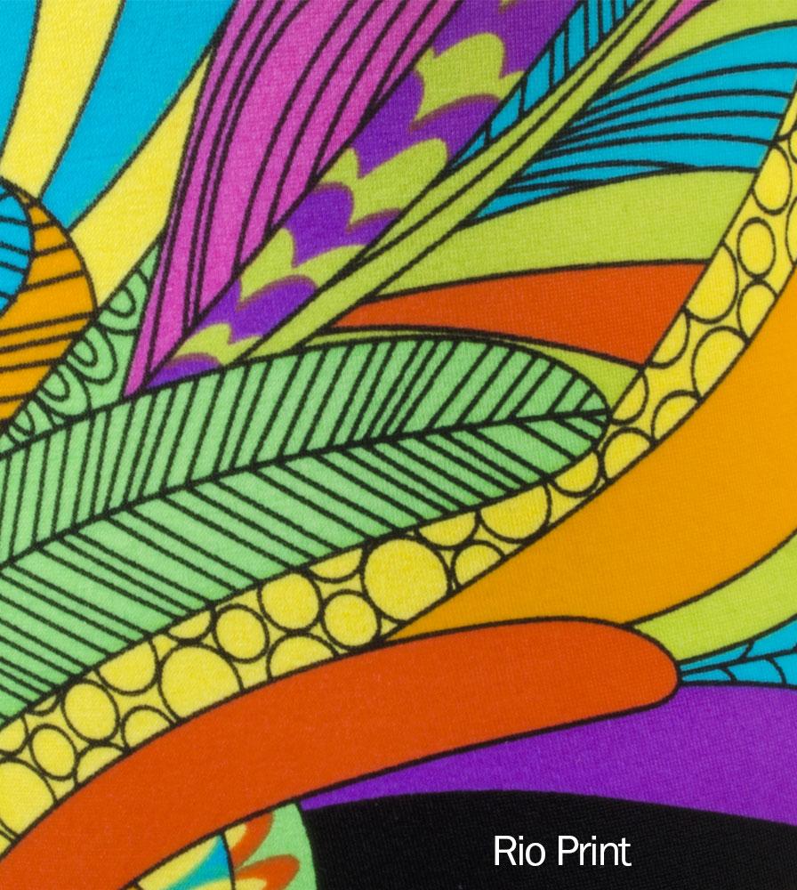Wild Rio Hippy Print Detail