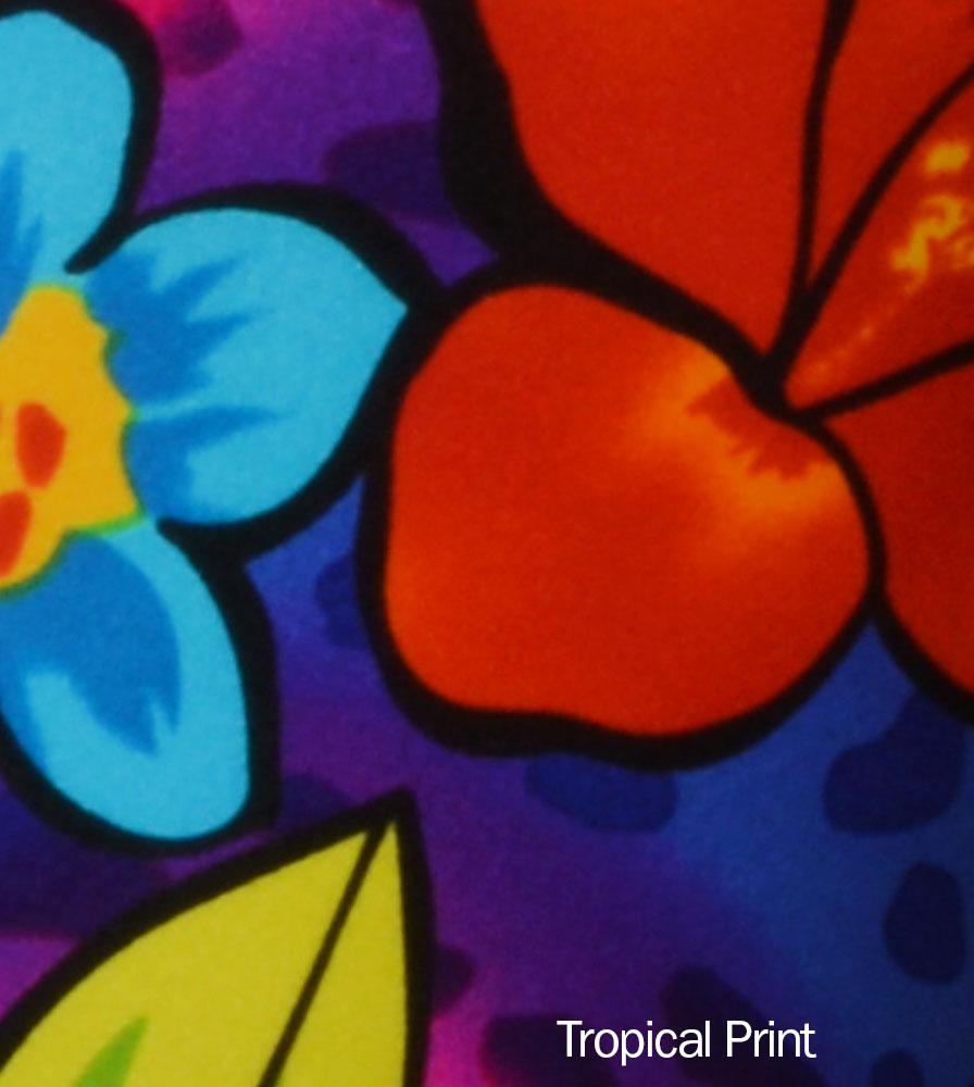 Wild Tropical Print Detail