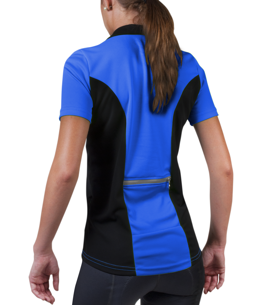 Women's Specific Royal Blue Jersey Back View