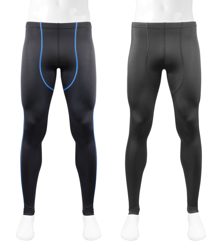 Men's Triumph Black Compression Spandex Workout Tights