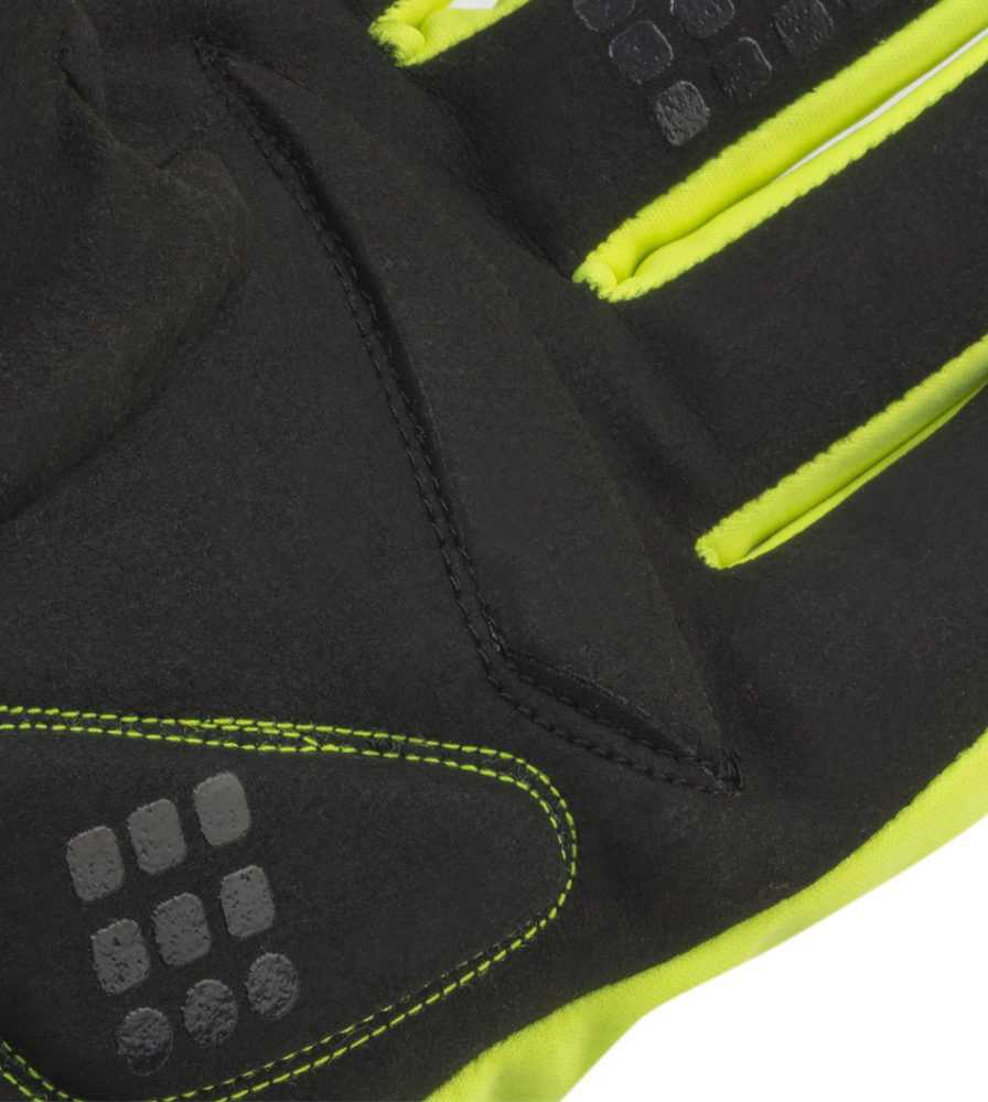 Gel Palm Detail on the Reflective Winter Cycling Gloves