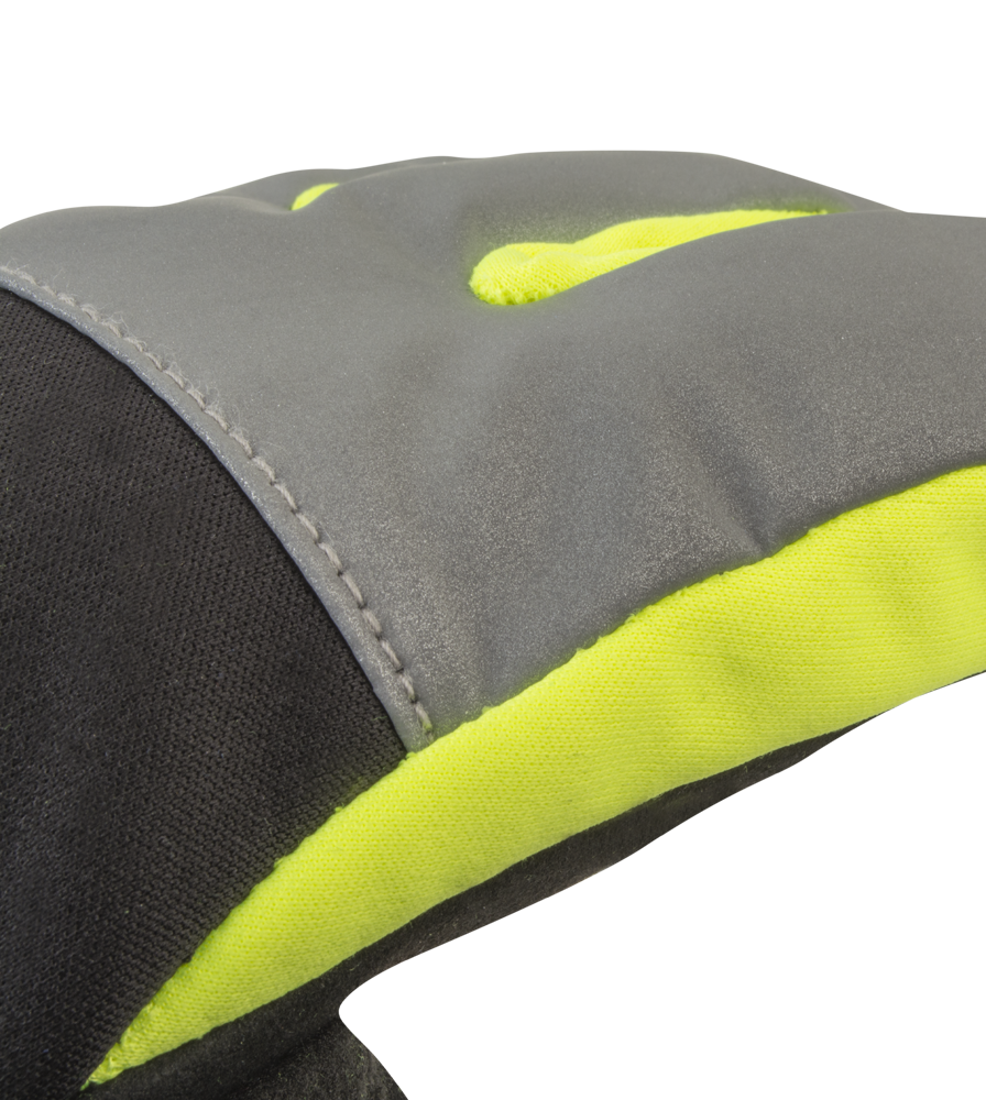 Reflective Fabric Detail on the Gel Padded Palm Winter Cycling Gloves