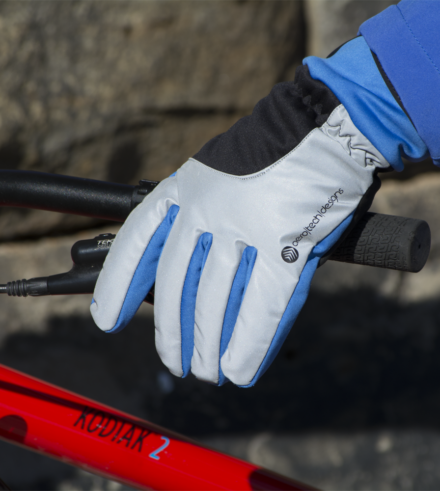 Reflective Cold Weather Full Finger Gel Padded Cycling Glove Gripping Handlebars