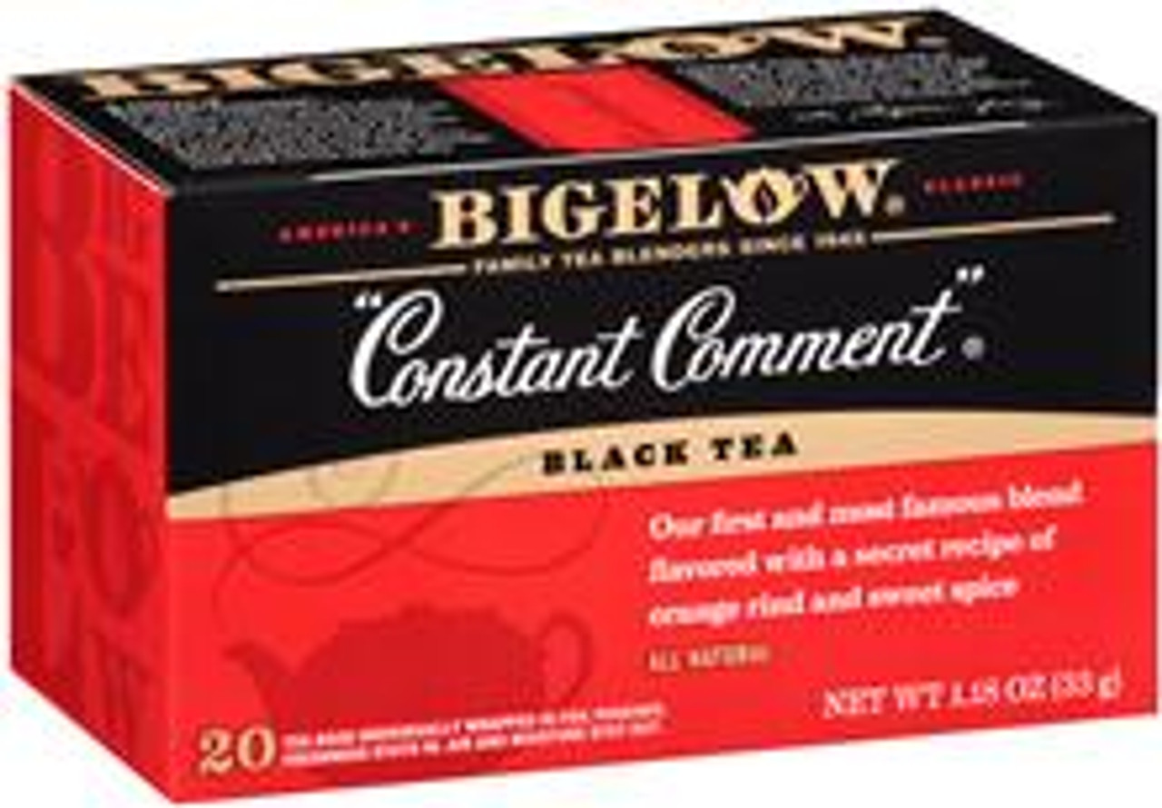 "Created by Ruth Bigelow in her kitchen over 60 years ago ""Constant Comment""® is today America's most popular specialty tea. This original blend of the finest mountain-grown tea is deliciously flavored with rind of oranges and sweet spice. There's no other tea in the world quite like it."