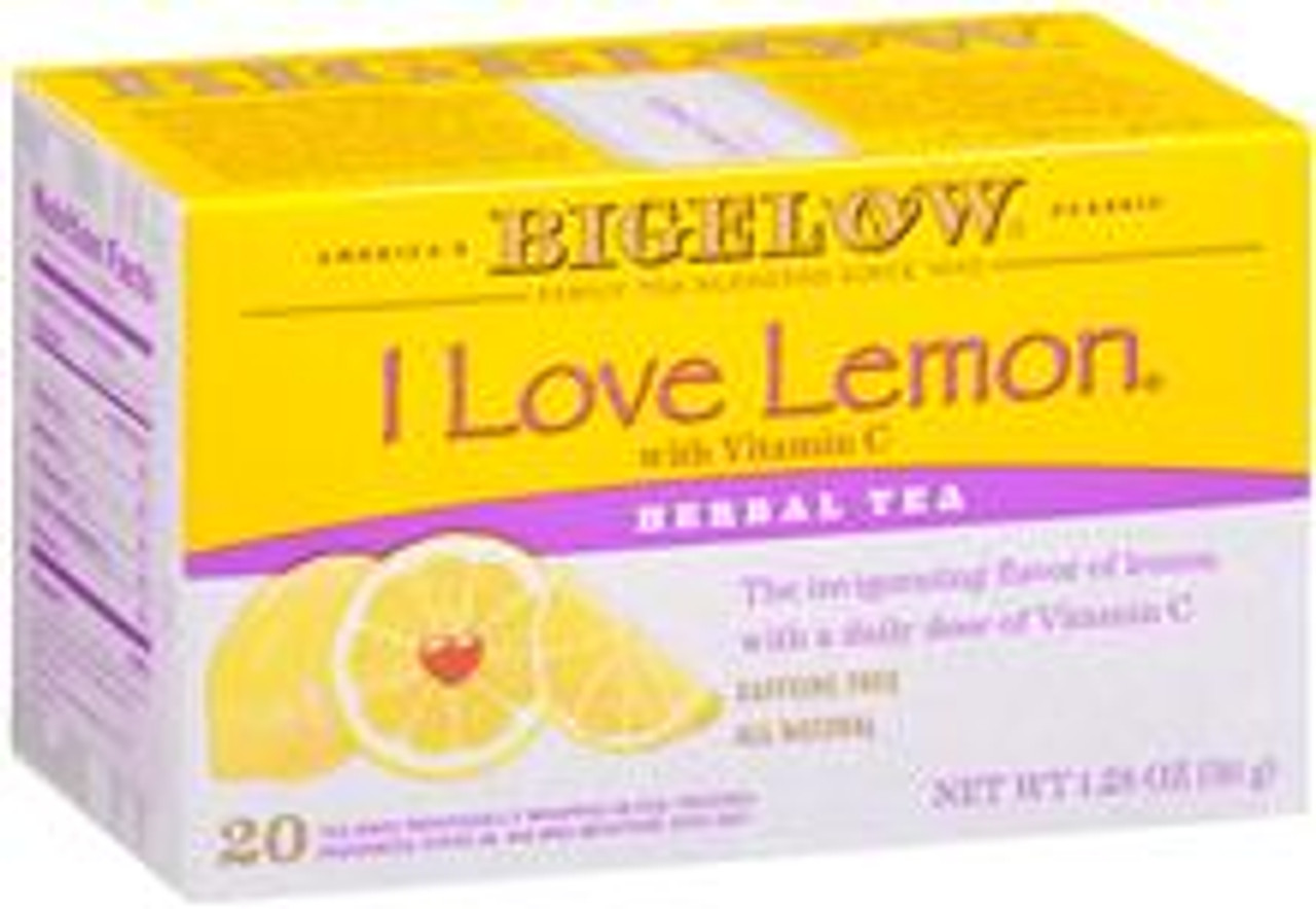 Here's a year round valentine for everyone who really loves lemon. With its delightfully refreshing lemon flavor, this herbal tea hot or iced will add a little sunshine to your day