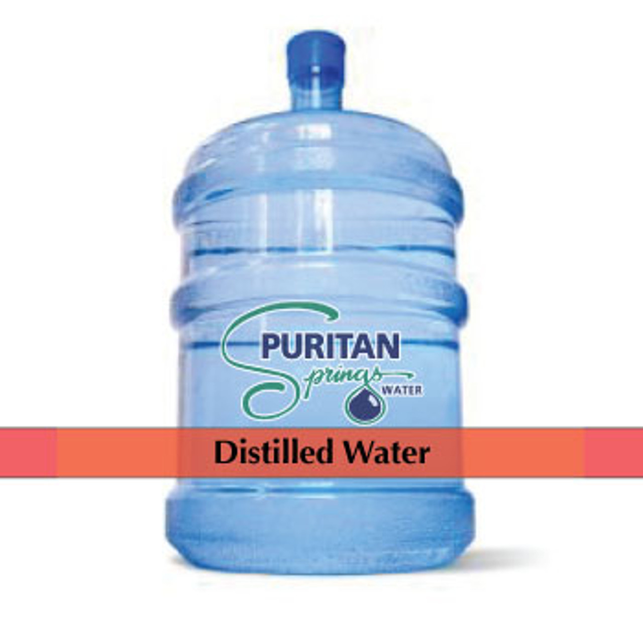 Puritan Springs - Distilled Water - 5 Gallon  Red Cap