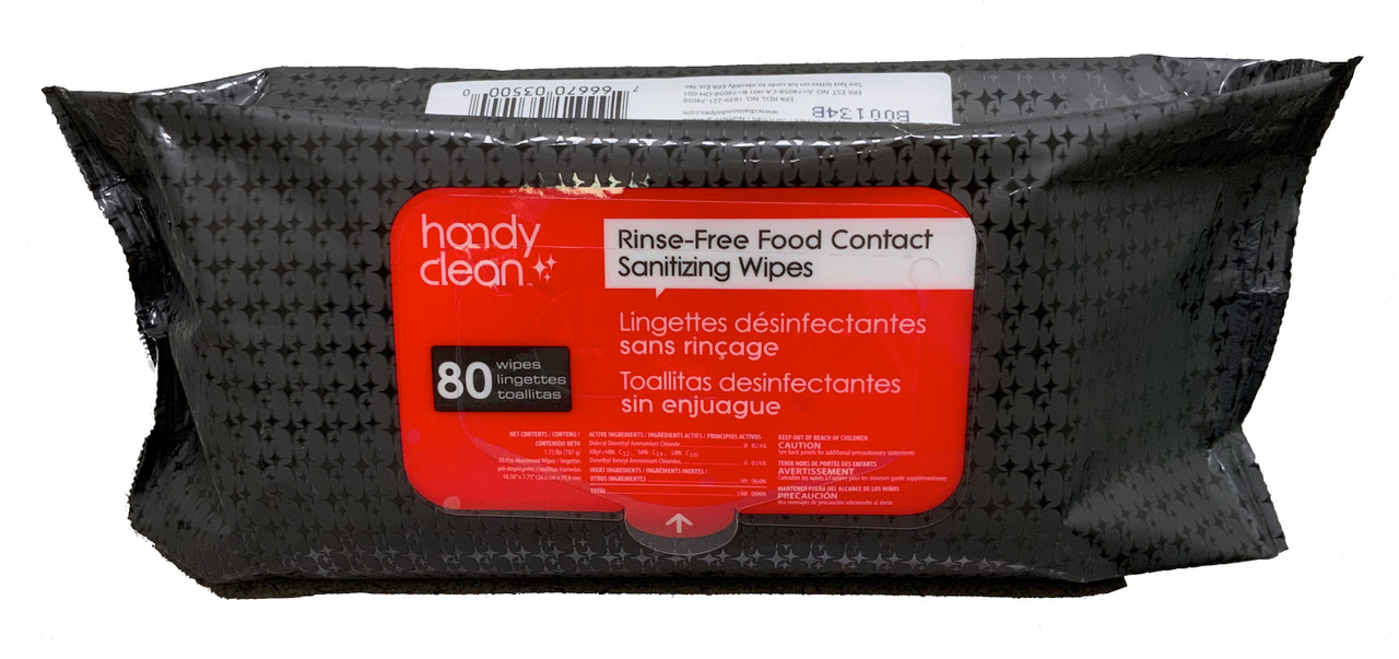 Handy Clean - Sanitizing Wipes - 80 ct.