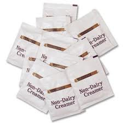 Grindstone Cafe non-dairy creamer. Packets of creamer are 100 percent lactose and cholesterol free. Packet creamer dissolves quickly in hot beverages.
