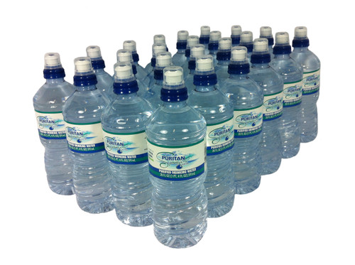 Drinking Water - 20 oz. sports cap bottles - 24 ea.