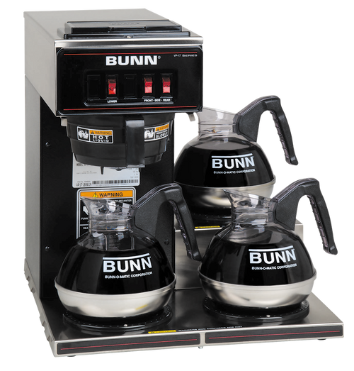 Bunn Commercial 3 Station Glass Pot Brewer