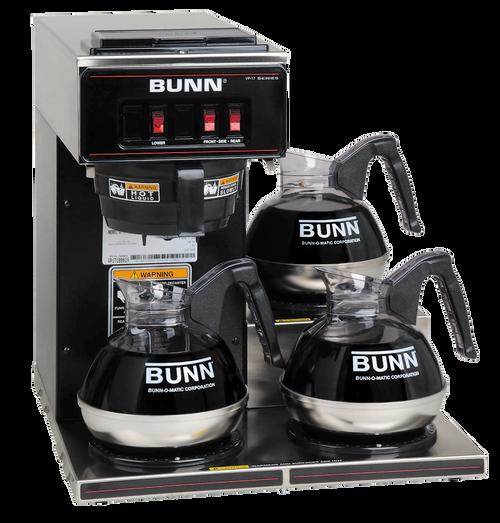 Bunn Commercial 3 Station Glass Pot Brewer