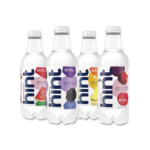 Hint - Fruit Infused Water, Variety Pack, Cherry, Watermelon, Pineapple, Blackberry, 16 oz. - 12 ea.