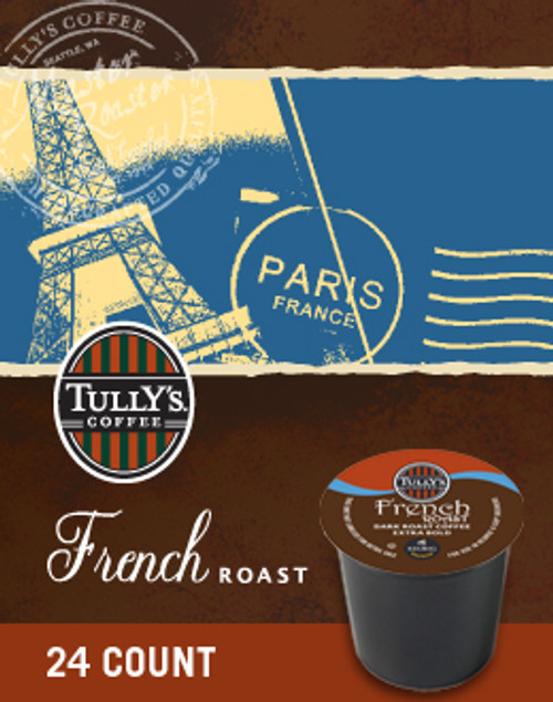 True to a traditional French Roast, this full bodied coffee reveals deep roasted aromas, and smoky flavors reminiscent of a quaint Parisian café. The sophisticated finish highlights the coffee's sweet side and begs to be shared with a rich and chocolatey pastry.