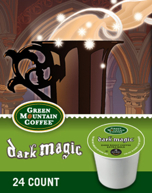Our Dark Magic Extra Bold K-Cup offers the rich aromatics and flavor qualities of espresso, tailored specifically for the unique brewing parameters of a K-Cup portion pack. Ideal with milk — divine with cream — its intensity is balanced by its complexity and subtle sweetness.