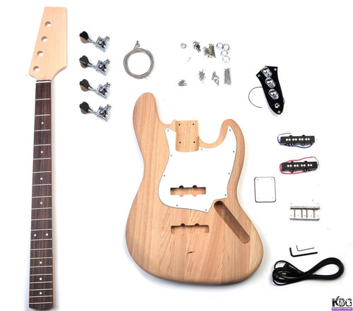DIY Jazz Style Bass Ash Wood JB Bass Build Your Own Bass Guitar Kit