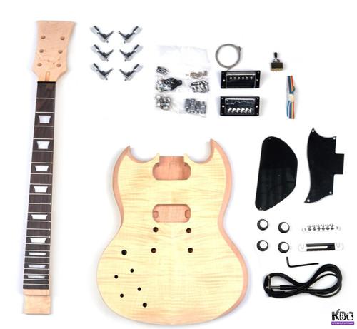 Left Handed SG Style DIY Mahogany Build Your Own Guitar Kit KBG-SG-MMTL