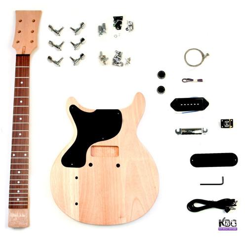DIY Left-Handed LP Junior Style Mahogany Build Your Own Guitar Kit Mahogany