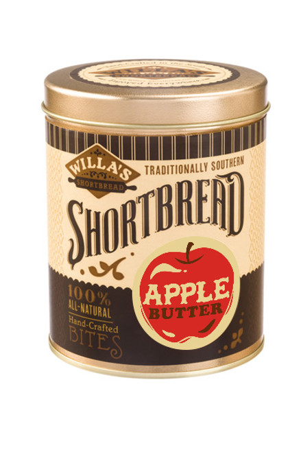 Apple Butter Shortbread 8 oz Cylinder Tin