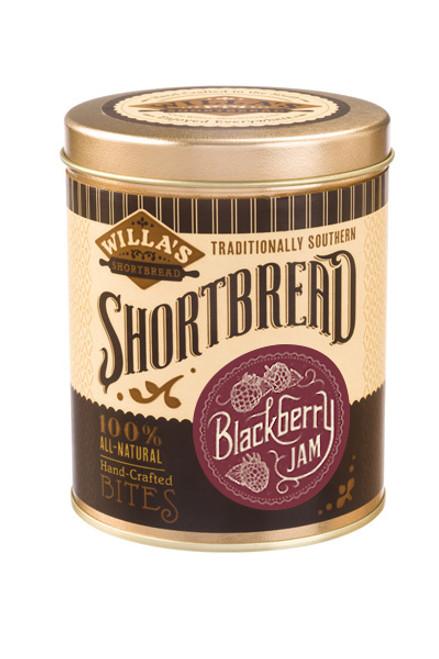 Blackberry Jam Shortbread 8 oz Cylinder Tin