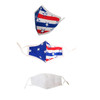 Red White & Blue Flag Washable Reusable  Fabric Face Mask