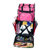 Both top and front openings for easy access;two inside straps to secure your machine;versatile pockets keep all your sewing tools organized
