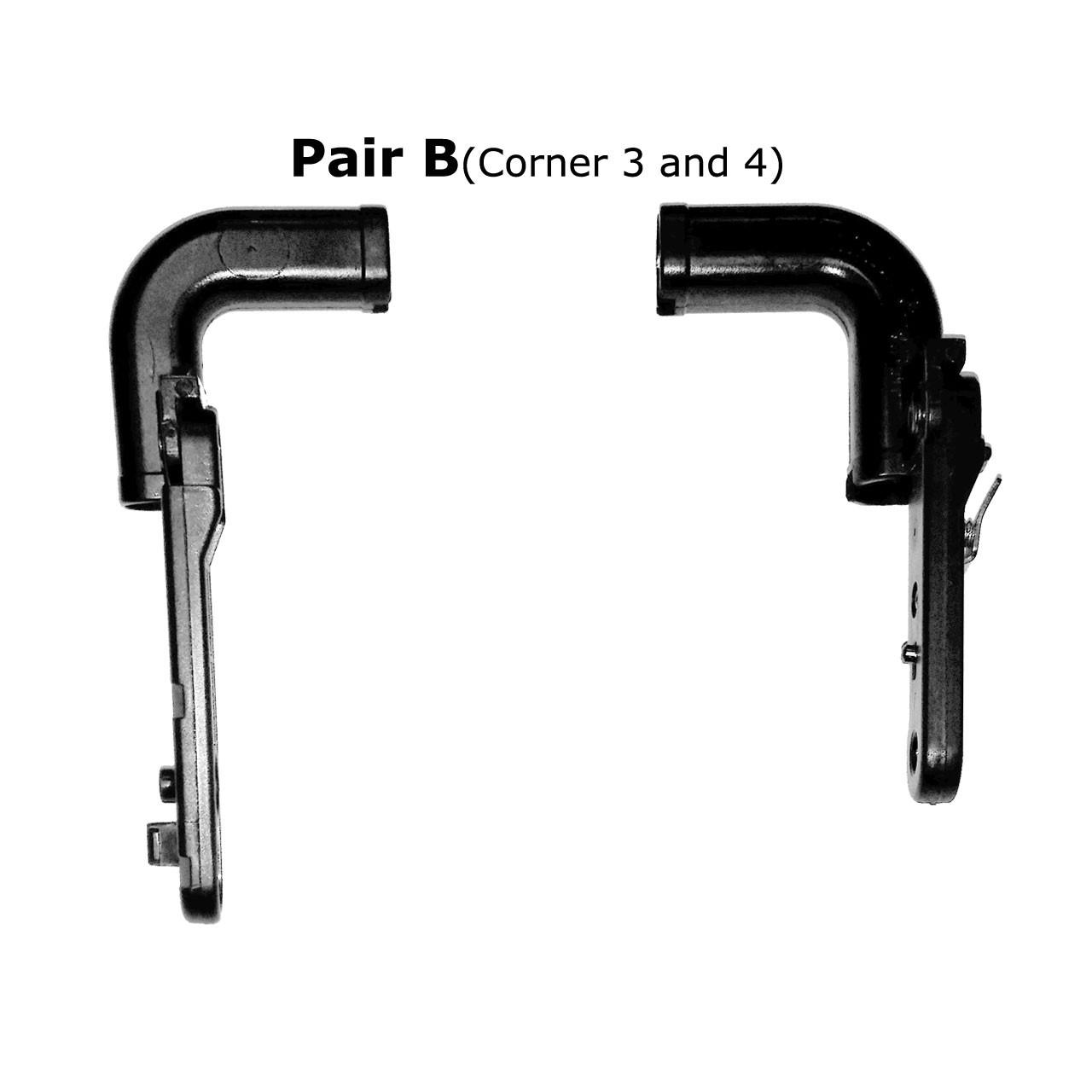 "10"" Width / Pair B (Corner 3 and 4)"