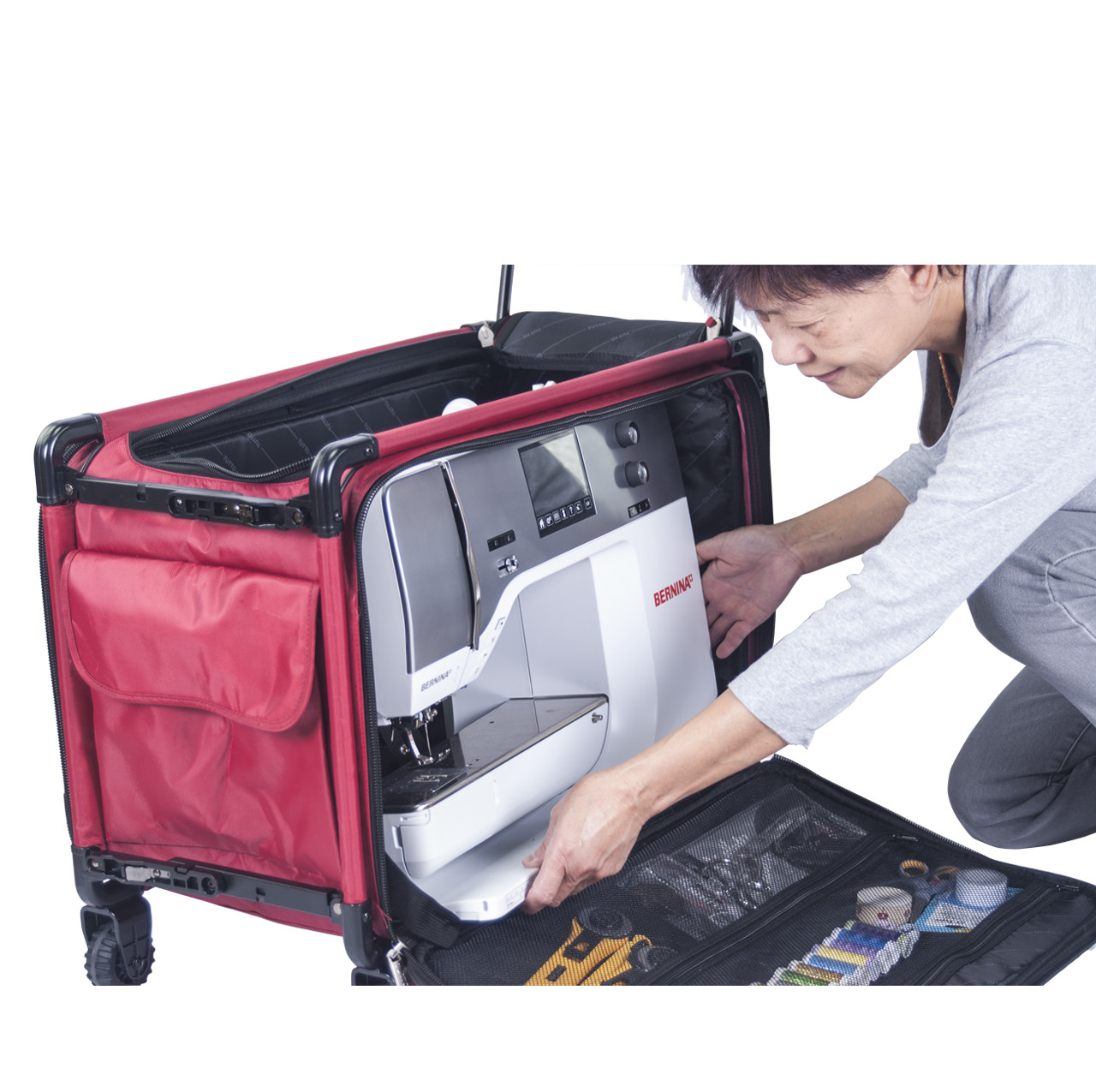 For easier loading, place machine through front opening.