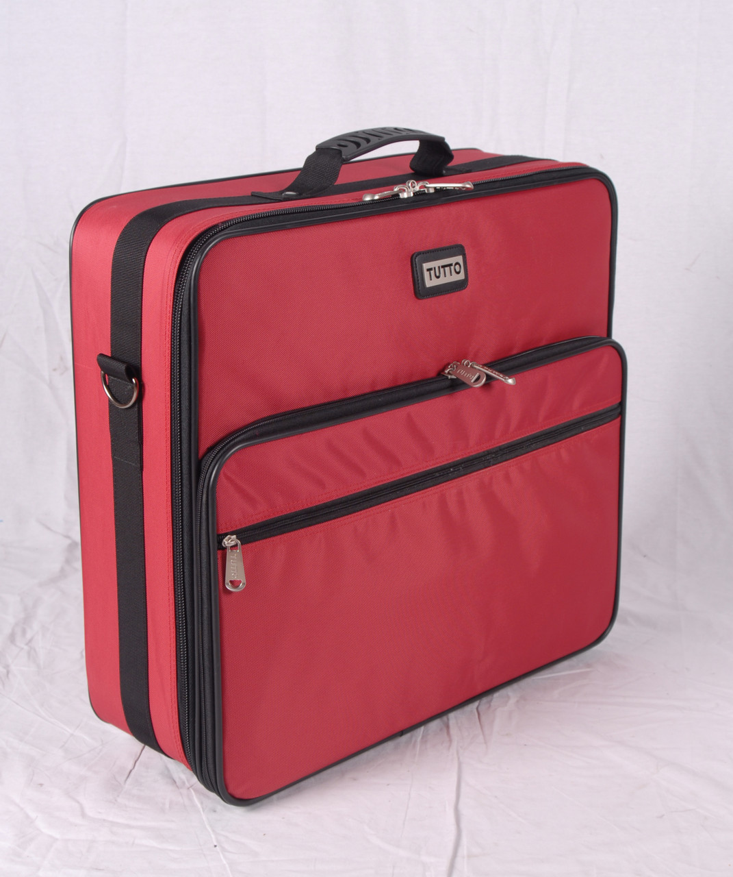 """Refurbished 19"""" Red Embroidery Project Bag(R1)"""