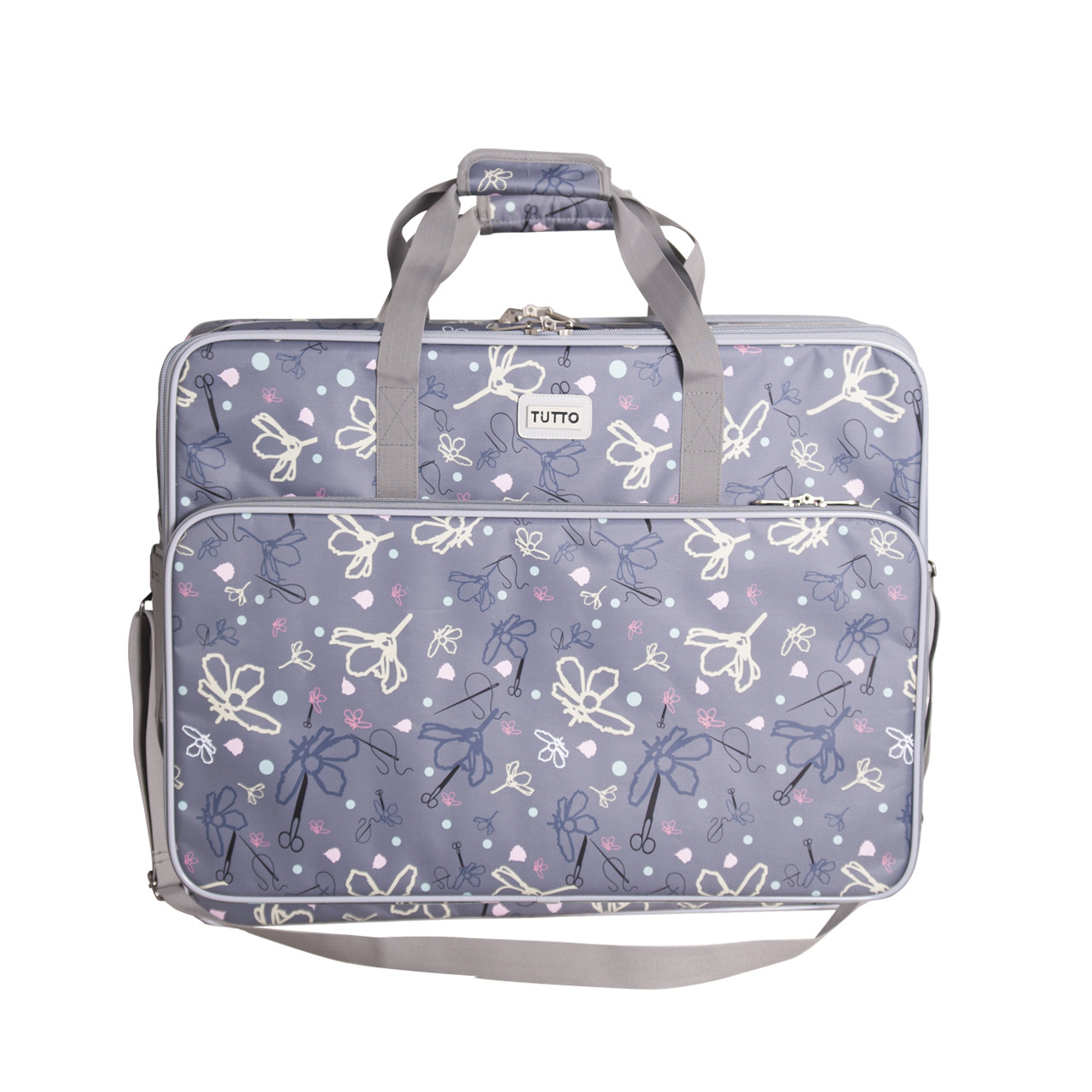 """28"""" Silver Embroidery Project Bag (Pre-Order Sale + free shipping)"""