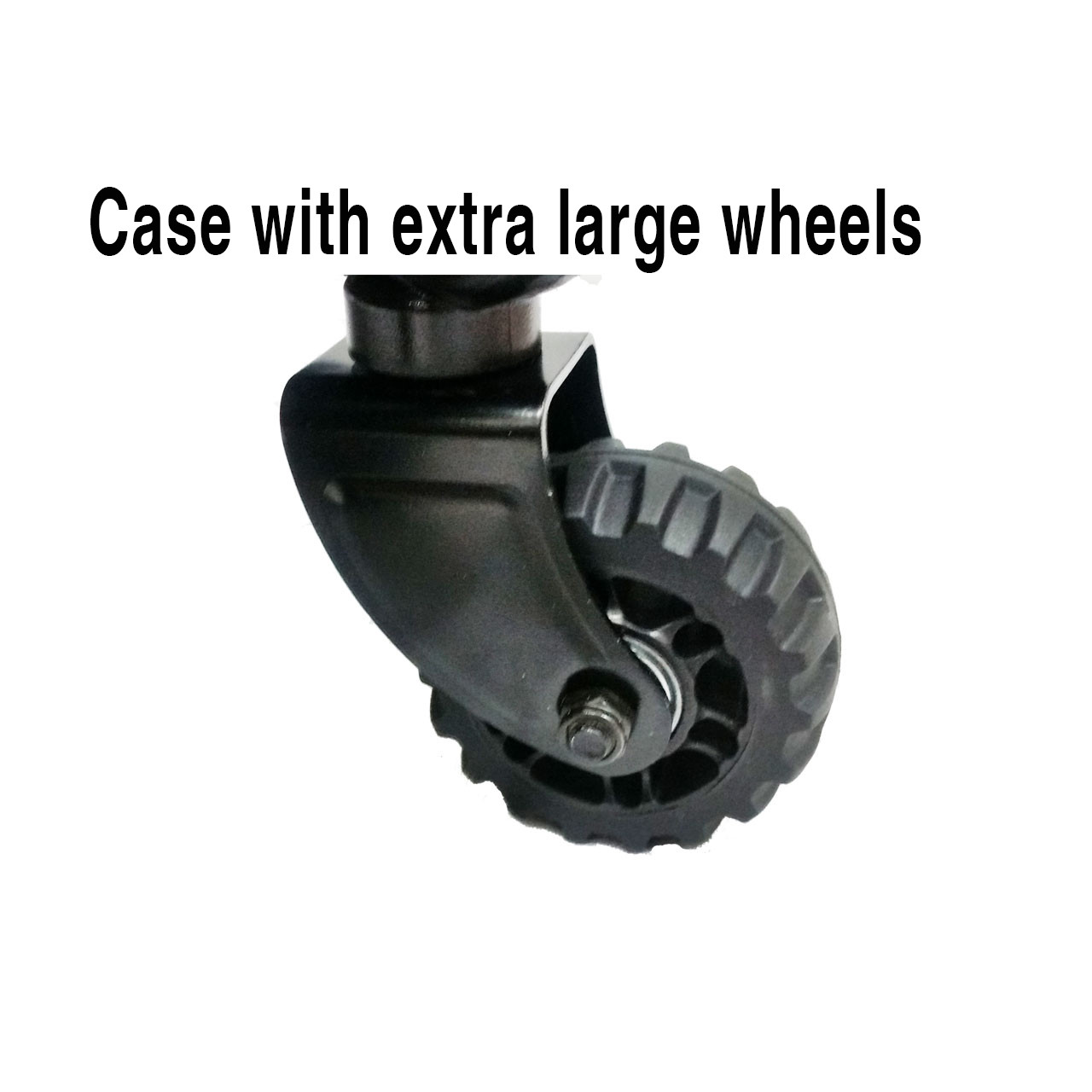 Case with extra large wheels