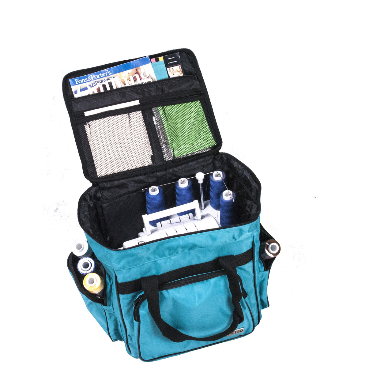 Holds small machine, serger and all your accessories