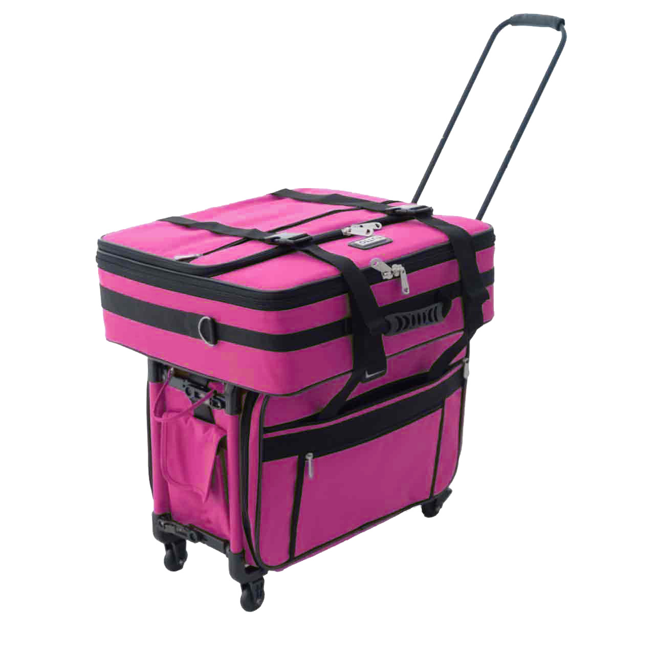 Great Companion Bag: carry individually with handle or shoulder strap. Also can stack on top of Tutto Machine On Wheels, Tutto Serger On Wheels or any Tutto 4-wheel case.