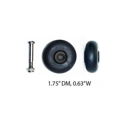 """Back Large Stationary Wheels: PWH-S6(1.75""""DM/0.63""""W) / A quantity of 1 is 2 wheels"""