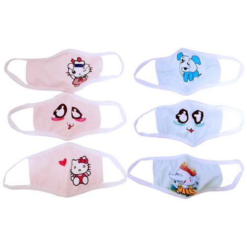 6PCS Baby/Toddler Blue & Pink Washable Reusable  Fabric Face Mask