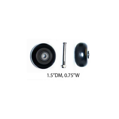 "Front rotating wheels -PWH-R3 (1.5""DM, 0.75""W) /A quantity of 1 is 2 wheels"