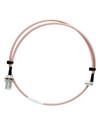 3ft Coaxial RF Jumper Cable - N-Female Bulkhead to QMA Male Angle