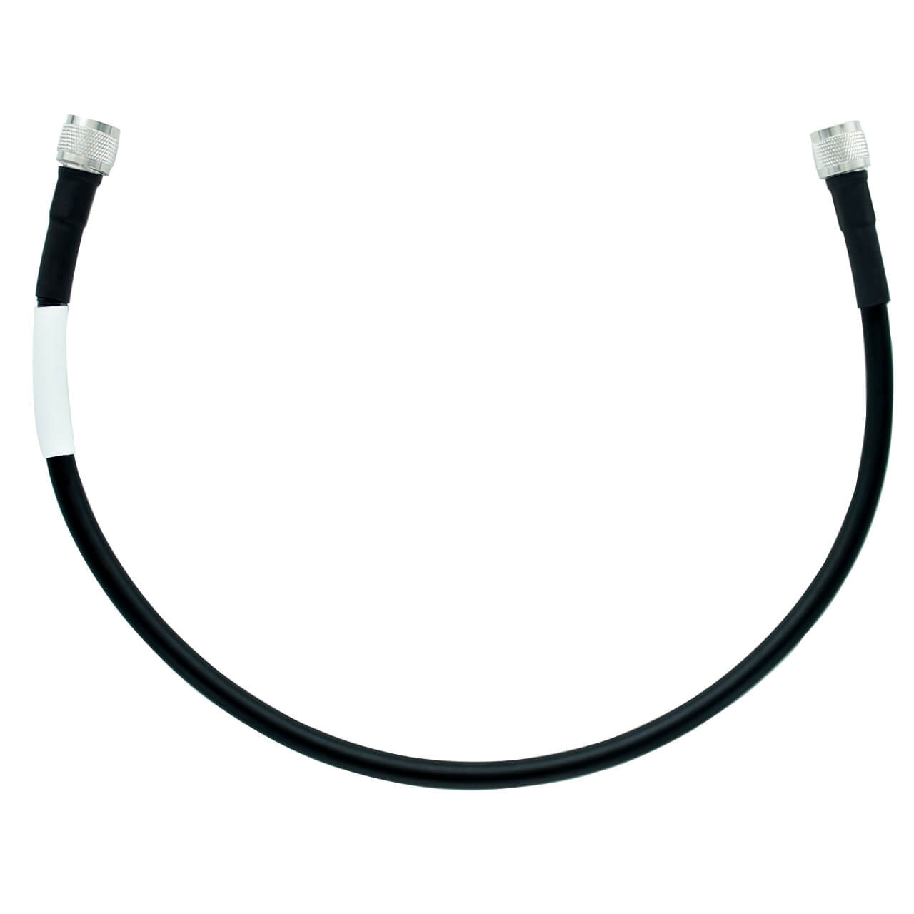 Bolton 400 Low Loss Cable - N-Male to N-Male PE Black Jacket 2 ft