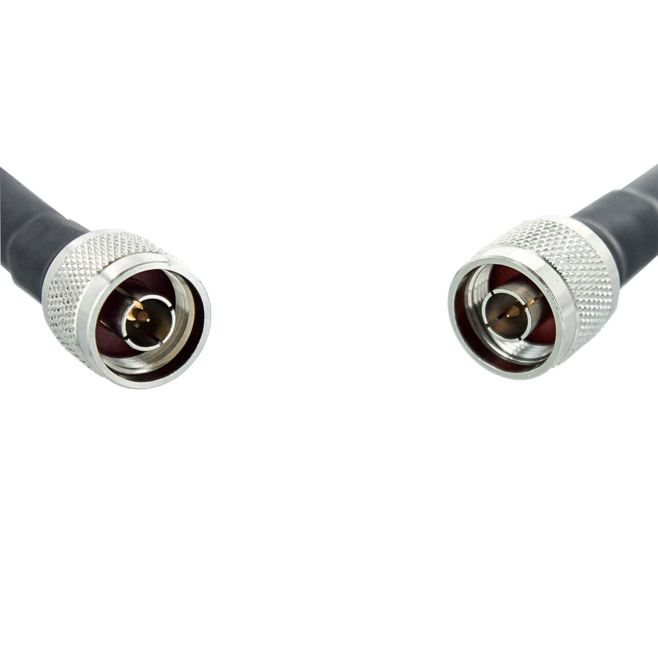 Bolton 400 Low Loss Cable - N-Male to N-Male PE Black Jacket 30 ft