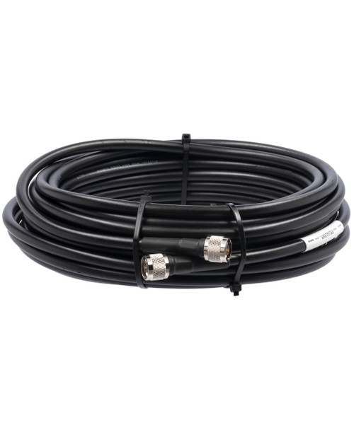 Bolton 400 Low Loss Cable - N-Male to N-Male PE Black Jacket 50 ft