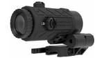 American Defense FLIK 3X Magnifier w/ QD Flip Mount - Titanium Lever