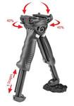 FAB Defense USIQ Rotating Vertical Foregrip w/Integrated Bipod - Black