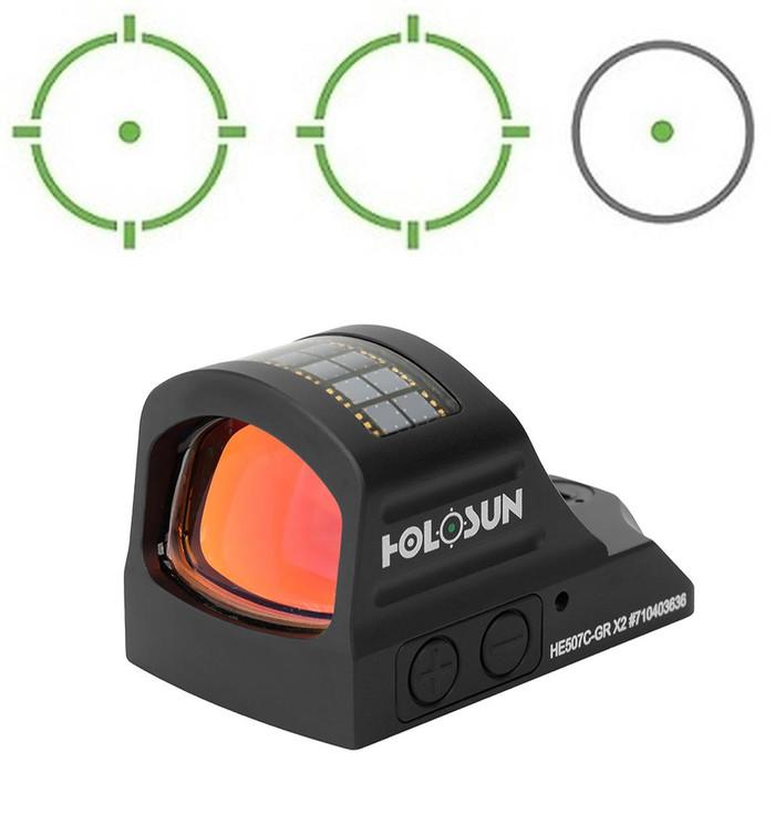 Holosun HE507C-GR-X2 Green Circle Dot Multi-Reticle Dot Sight