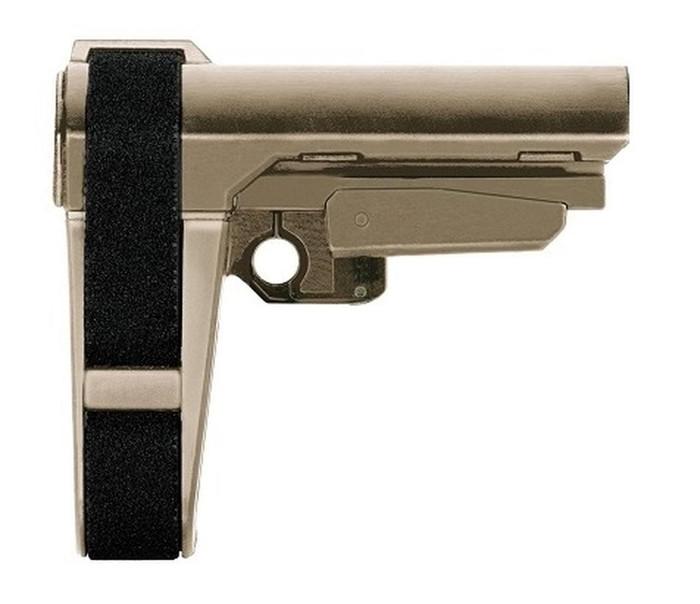 SB Tactical SBA3 Adjustable Pistol Brace (no buffer tube) - FDE