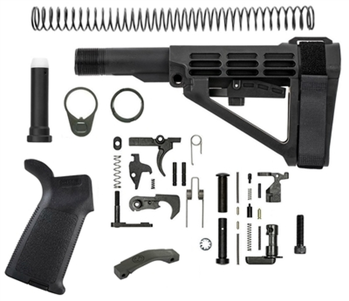 MOE SB Tactical TS | SBA4 Pistol Lower Build Kit | Adjustable Pistol Brace